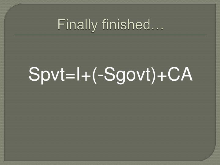 Finally finished…