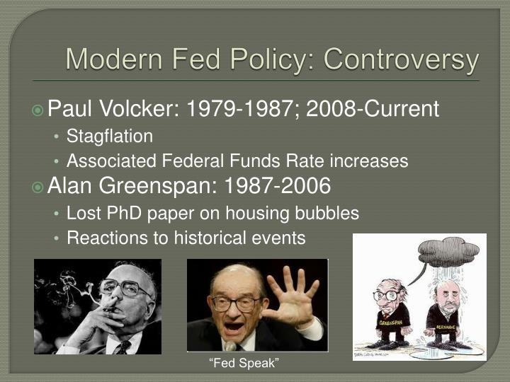 Modern Fed Policy: Controversy