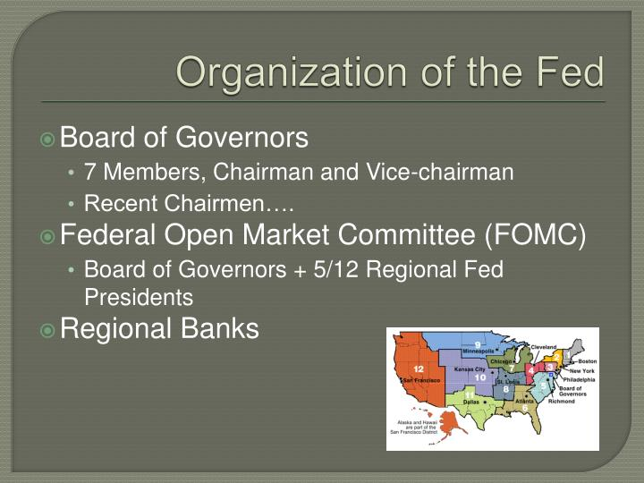 Organization of the Fed
