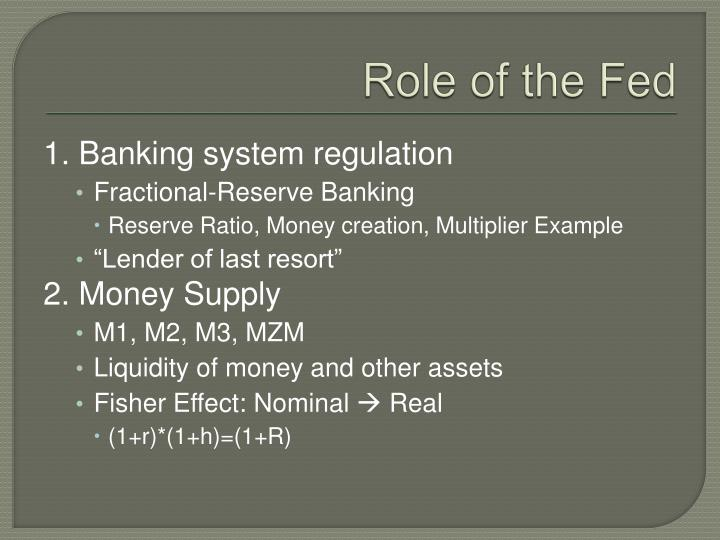 Role of the Fed