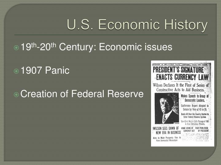 U.S. Economic History
