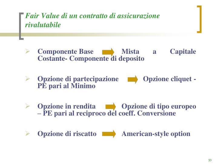 Fair Value di un contratto di assicurazione rivalutabile