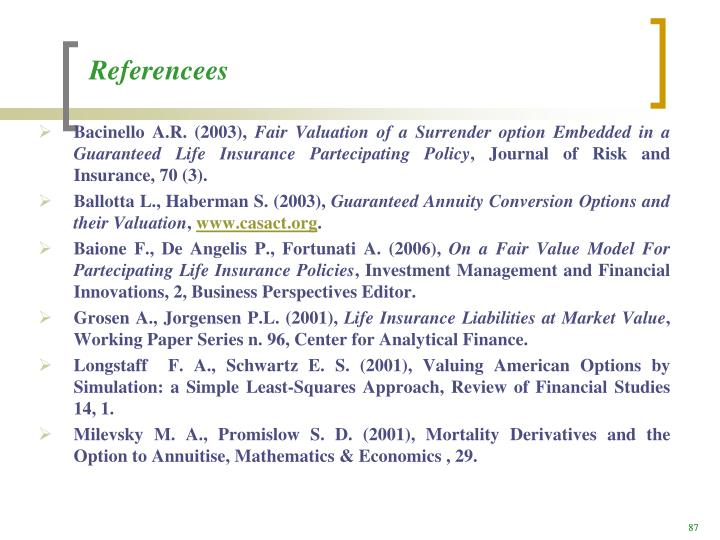 Referencees
