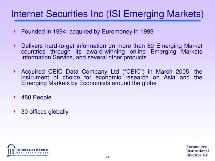 Internet Securities Inc (ISI Emerging Markets)