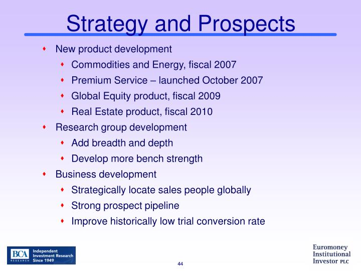 Strategy and Prospects