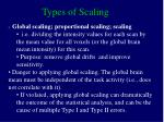 types of scaling1