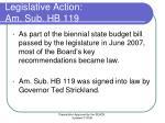 legislative action am sub hb 119