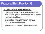 proposed best practice 3