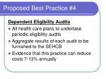 proposed best practice 4