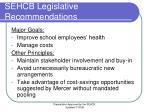 sehcb legislative recommendations
