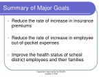 summary of major goals