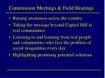 commission meetings field hearings