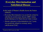 everyday discrimination and subclinical disease