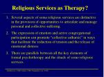 religious services as therapy