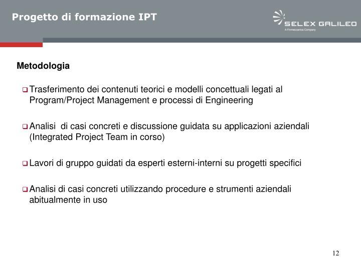 Progetto di formazione IPT