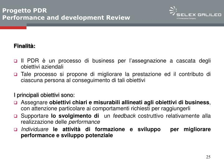 Progetto PDR