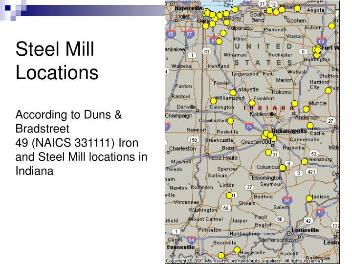 Steel Mill Locations