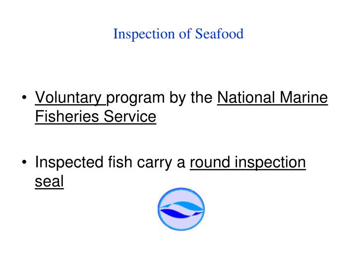 Inspection of Seafood
