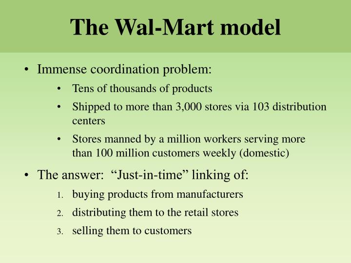 The Wal-Mart model
