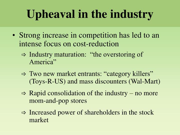 Upheaval in the industry