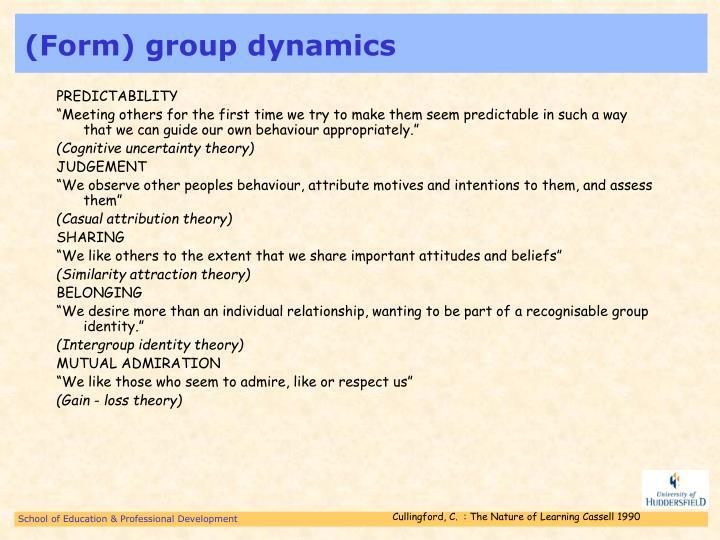 (Form) group dynamics
