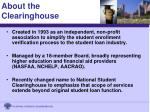 about the clearinghouse