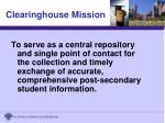 clearinghouse mission