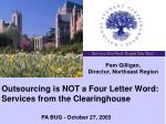 outsourcing is not a four letter word services from the clearinghouse