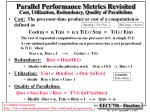 cost utilization redundancy quality of parallelism