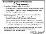 desirable properties of workloads concurrency