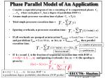 phase parallel model of an application