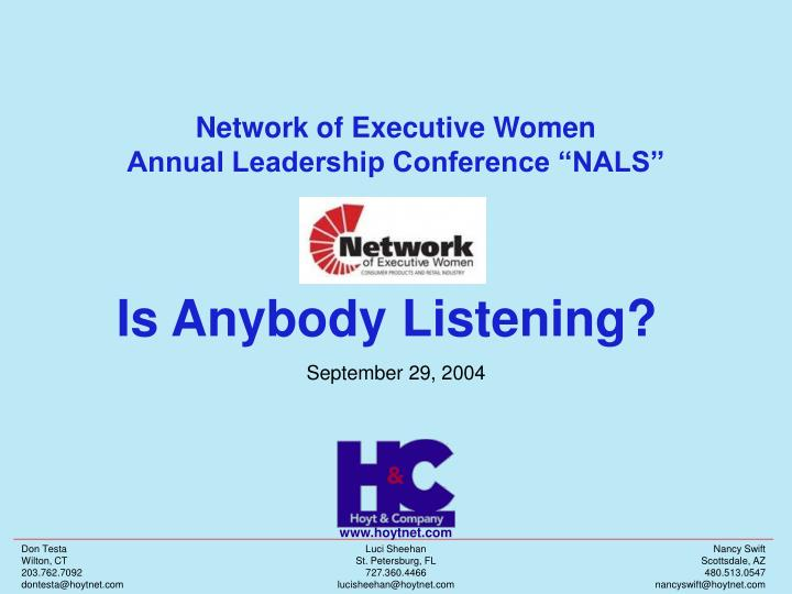 Network of executive women annual leadership conference nals