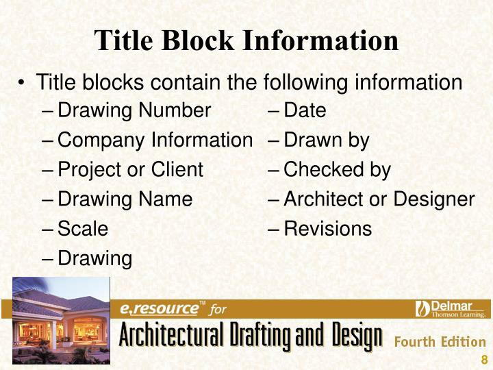 Title Block Information