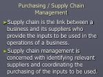 purchasing supply chain management