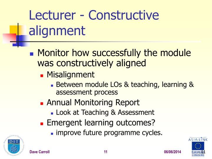 Lecturer -