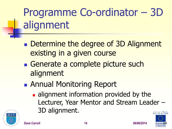 Programme Co-ordinator –