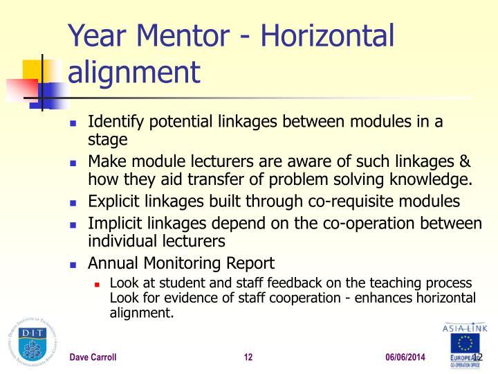 Year Mentor -