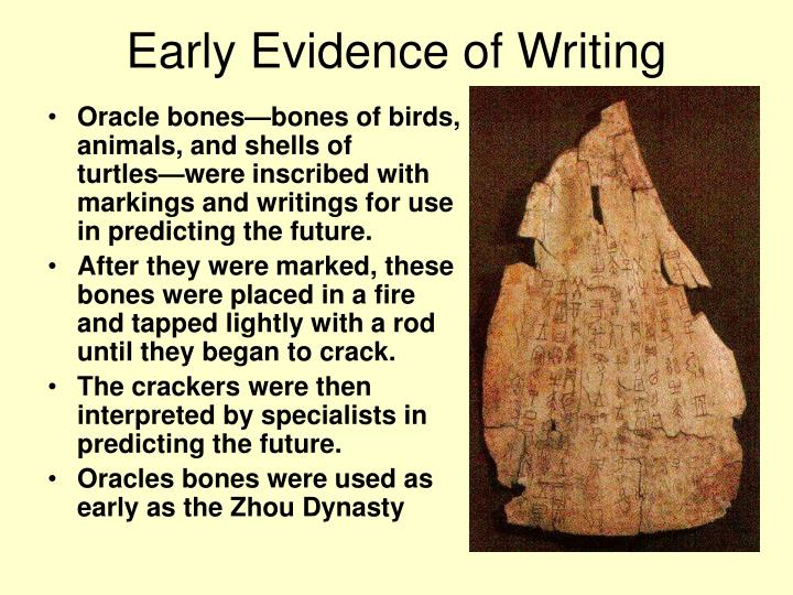 Early Evidence of Writing