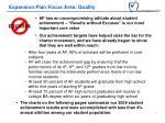 expansion plan focus area quality