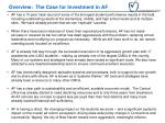 overview the case for investment in af