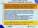 indicatori drg specifici indicatori di complessit case mix 2