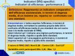 indicatori drg specifici indicatori di efficienza performance 2