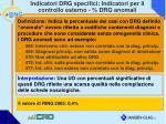 indicatori drg specifici indicatori per il controllo esterno drg anomali