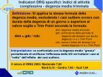 indicatori drg specifici indici di attivit complessiva degenza media trimmata