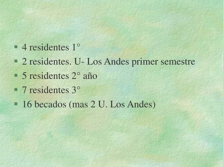 4 residentes 1°