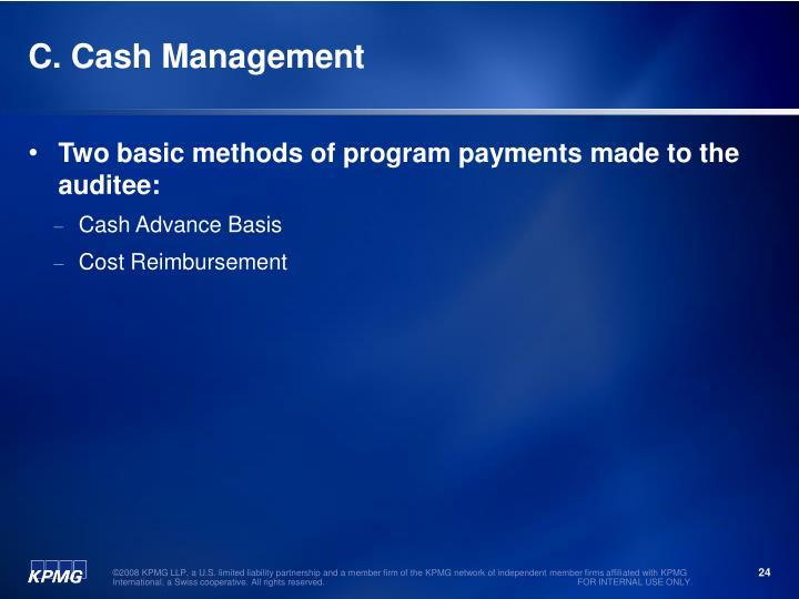 C. Cash Management