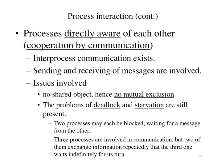 Process interaction (cont.)