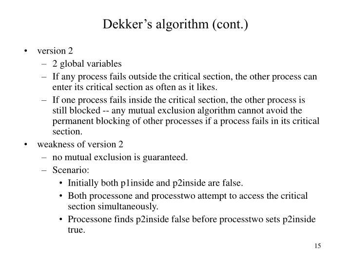 Dekker's algorithm (cont.)