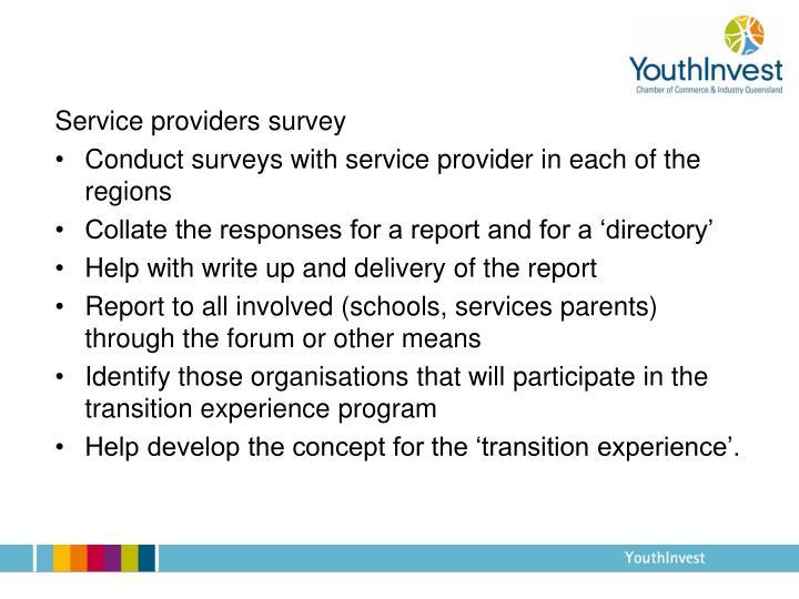 Service providers survey