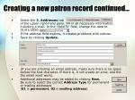 creating a new patron record continued2